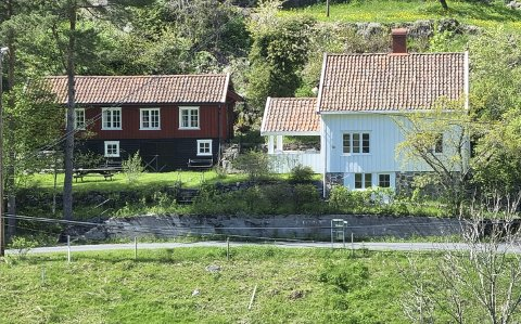Fagermyrveien: Mange var interessert i denne helårseiendommen på Østerå. Prisen spratt til værs. Foto: Frode Gustavsen