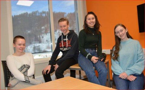 Snytt for finale: Oda Thon Hovrud, Jakob Blix-Nilsen, Trisha Margaret Johansen og Ingrid Winnem Tvedt gjekk rett til landsfinalen i klassequiss, men så vart finalen avlyst.