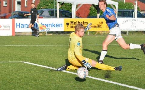 Elegant: Gaute Storsæter var sikkerheten selv da han sendte HSV opp i en 0-2 ledelse borte mot Sprint-Jeløy 2