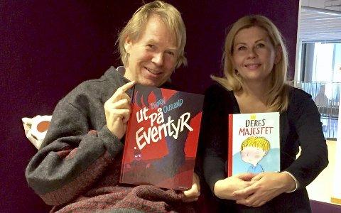 Les for barna: Barnebokaktuelle Bjørn Ousland og Marianne Kaurin oppfordrer foreldre til å lese for barna. Foto: Ann-Turi Ford