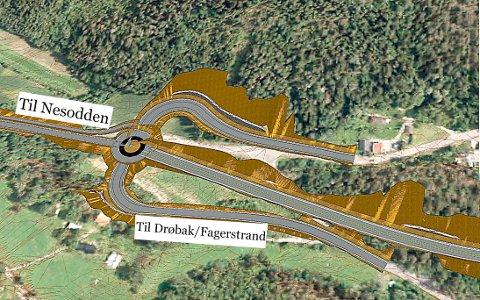 Tussekrysset, som nettopp er bygget om, må igjen bygges om. Det skal lages ny vei for å slippe unna de fryktede Rundvollbakkene ned mot Nesset.