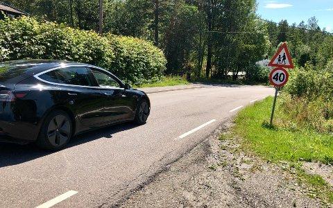40 SONE: Beboerne på Fjellstrand ønsker å ta tak i fartsproblemene ved Fjellveien.