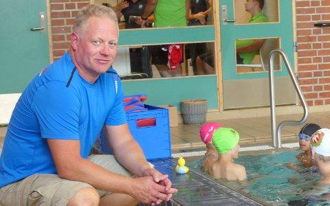 Kristian Tangen i DFI svømming forteller at de har testet vannet grundig for Legionella.