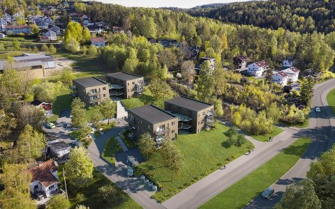 KOMMER: Slik vil det nye boligprosjektet i Vestbyveien bli seende ut. Illustrasjon: privat