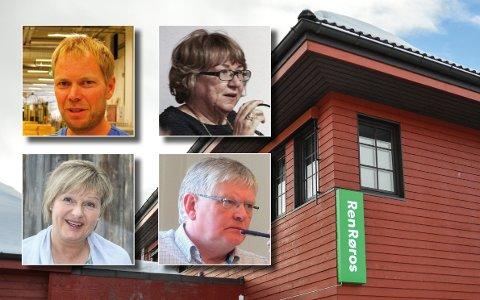 Erland Sjøvold, Anne Grethe Beck Andersen, May Kristin Knutsen og Henrik Grønn trakk seg fra styret i Ren Røros onsdag kveld.