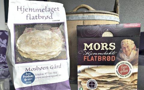 Godt: Flatbrødet er det eldste hverdagsbrødet i Norge. Den lokale varianten fra Mosbøen gård og masseproduserte Mors flatbrød er ypperlige produkter.Foto: Petter E. Innvik