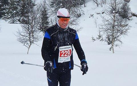 PÅ PALLEN: Erik Mathisen ble nummer tre i sin klasse i Gaustaløpet.