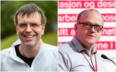 I KLINSJ: Aps Frode Jacobsen (t.h.) mener at FNB bløffer, mens sistnevnte partis gruppeleder Bjørn Revil er helt uenig med kritikken.