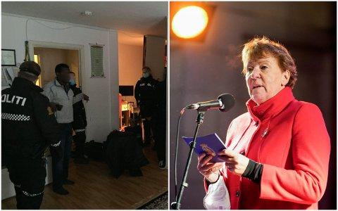 HOLDER MØTE OM JAMA-UTKASTELSEN: Ordfører Marianne Borgen (SV).