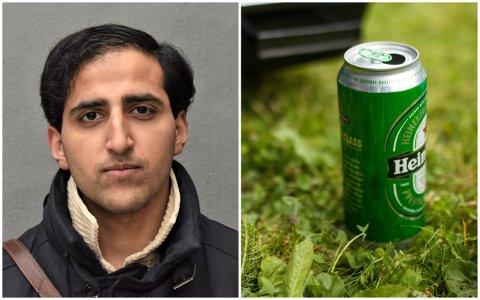 MOT FORBUDET: Hassan Nawaz i Oslo Unge Høyre mener mange andre lover regulerer fyllebråk i offentlig rom enn selve forbudet mot å drikke.