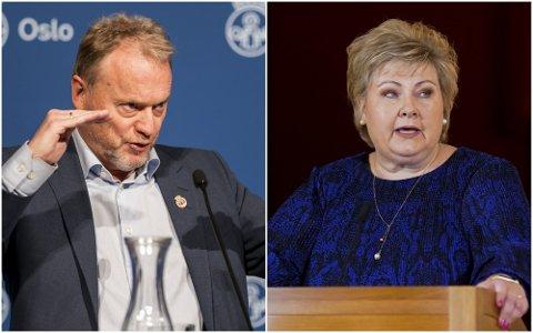 SKEPTISK: Byrådsleder Raymond Johansen ber om forsikringer fra Erna Solbergs regjering. Foto: NTB scanpix