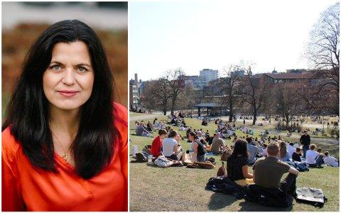 MENER DET ER BEDRE AT UTELIVET ÅPNER: Regiondirektør Nina Solli i NHO mener at utelivet kan sikre tryggere rammer enn de som var i Oslos parker i helga.