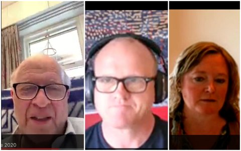 LIKTE IKKE DISKUSJONEN: Der Odd Einar Dørum (V) og Anne Haabeth Rygg (H) problematiserte fjernmøter, likte ikke Frode Jacobsen (Ap) at muligheten for få til fysiske møter ble diskutert.