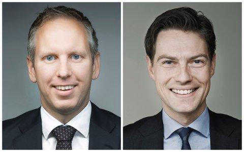 ADVOKATER: Wikborg Reins-advokatene Jørgen Vangsnes og Kaare Shetelig representerer Vålerenga vel i klagesaken mot Brynsbakken-vedtaket.
