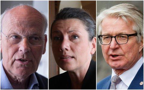UENIGE: Fabian Stang (t.h.) og Michael Tetzschner forsøkte å overbevise Oslo Høyre-leder Heidi Nordby Lunde og flertallet i lokallaget, men lyktes ikke.