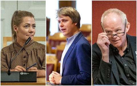 ENIGE MED BYRÅDET: Sandra Borch (Sp), Åsmund Aukrust (Ap) og Lars Haltbrekken (SV) deler byrådets bekymring angående klimaregnskapet.