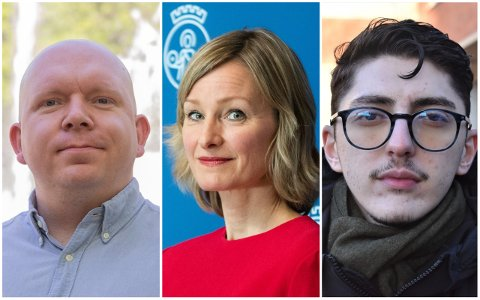 UENIGE OM SKOLEBUDSJETT: Lars Petter Solås (t.v.) og Mehmet Kaan Inan er uenige med byråd Inga Marte Thorkildsen om pengebruken i skolesektoren.