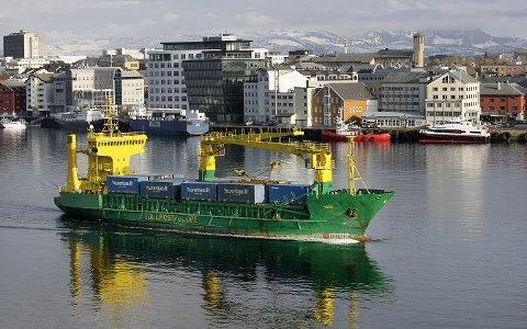 MS Tege: Konteinerruta til Tollpost ble lagt ned høsten 2013.