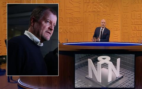 TAR DET IKKE TUNGT: Underholdningsredaktøren tar ikke på vei etter at Nytt på Nytt ble kraftig kritisert av direktøren i Sjømat Norge. Charlo Halvorsen (til venstre) Foto: Håkon Mosvold Larsen/NTB/NRK