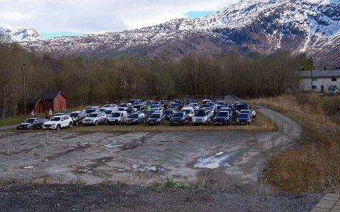 Massetesting på Elvedalen i Kjøpsvik. Foto: AN-tipser