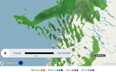 Regnbygene står i kø inn mot Nordland og Salten i morgentimene mandag. Og det er mer i vente!