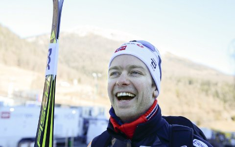 Sjur Røthe skal gå tremilen med skibytte under VM i Lahti lørdag 25. februar. (Arkivfoto: NTB scanpix)