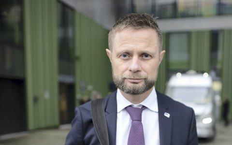 Helseminister Bent Høie (H) har svart på spørsmål om fristbrudd i Helse Bergen. ARKIVFOTO: KAI FLATEKVÅL