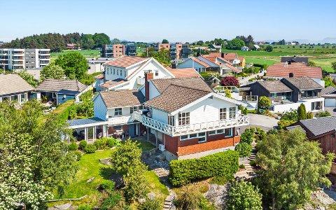 """PÅ TOPPEN: Huset som nå er blitt solgt i Viste Hageby, ligger mer eller mindre på """"toppen"""" i kommunedelen."""
