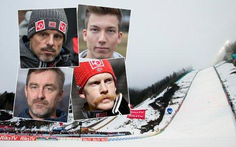 VENTER I SPENNING: Landslagsledelsen og de norske hopperne venter på å finne ut om de får hoppe i Vikersund denne sesongen.