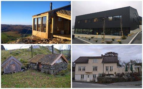 DEI NOMINERTE ER...: Det er fire kandidatar til byggeskikkprisen. Kven som får prisen, blir først klart under utdelinga 16. desember.