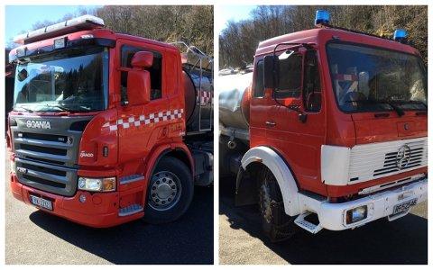 NYARE OG STØRRE: Den gamle slitaren er erstatta av ein nyare og større tankbil.