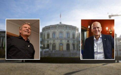 THRILLER: Blir det Arne Nævra eller Anders B. Werp som kan innta Stortinget? Det er enda ikke avgjort.