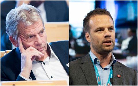 UTRADISJONELLE MAKKERE: SVs Arne Nævra er ofte uenig med Frps Jon Helgheim. Nå står de to Buskerud-politikerne sammen om en opptrappingsplan for minstepensjonister.