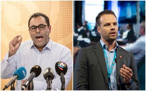 STORTINGSPOLITIKERE FRA DRAMMEN: Masud Gharahkhani og Jon Helgheim representerer henholdsvis Ap og Frp.