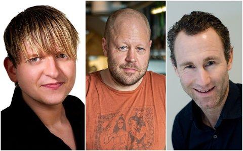 GAVETIPS: Eigil Moe, Jon Christian Thomassen og Alexander Aas har god peiling på vin. Nå gir de sine anbefalinger.