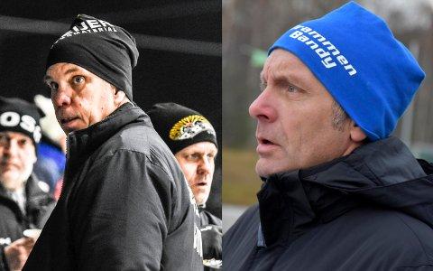 SLUTT: Magnus Ringblom (t.v.), Solberg, og Anders Palmberg, Drammen, gir seg som hovedtrenere.