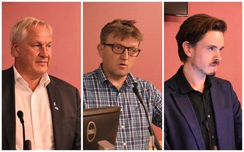 KULTURPOLITIKERE: Kjell Arne Hermansen (Høyre), Anders Wengen (Venstre) og den uavhengige politikeren Herman Ekle Lund.