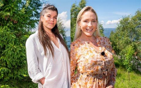 KONKURRENTER: Kristin Gjelsvik og Aurora Gude, som begge bor i Drammensområdet, er konkurrenter i årets utgave av Drømmehytta.