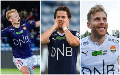 FORHANDLINGER: Strømsgodset bekrefter at de er i dialog med Tobias Fjeld Gulliksen, Lars Vilsvik og Niklas Gunnarsson om ny kontrakt.
