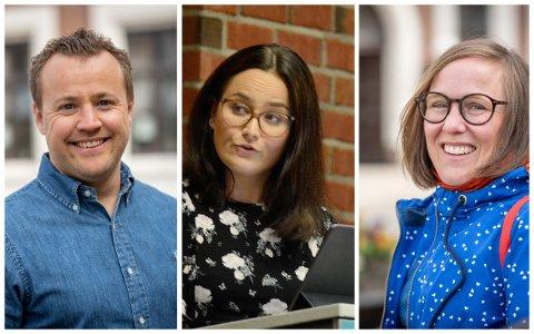 RYKENDE UENIGE: Lavrans Kierulf (Frp), Victoria Øverland (Ap) og Åse Lund (SV) ble ikke enige om fremtiden for elevene ved Skoger barneskole.
