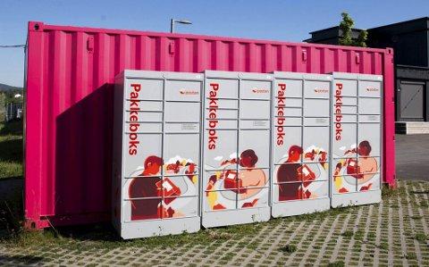 LETTVINT: Ein slik kan du få i nærområdet ditt. Pakkeboksane frå Posten skal i utgangspunktet vere på plass i Florø etter sommaren.
