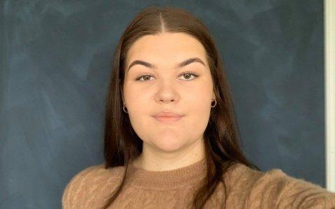 STUDENT: Marthea Winterthun (19) frå Florø er ein av mange studentar frå Sogn og Fjordane som studerer i Bergen.