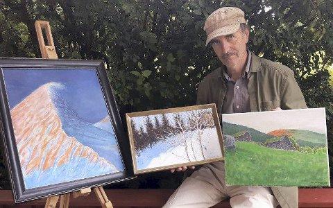 Billedkunstneren Harry Leon Jørgensen skal stille ut et tjuetall bilder på Stabburet på Dale-Gudbrands Gard i Sør-Fron.