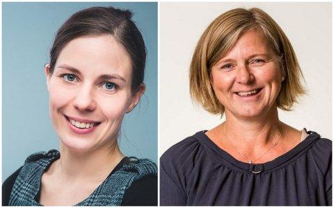 Anne-Karin Rime (til høyre) er ny leder i Overlegeforeningen, mens Kristin Utne er valgt som ny leder i Yngre legers forening.