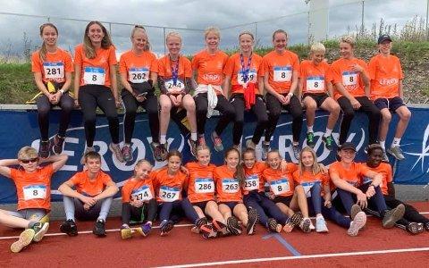 3. plass: Østfold-laget ble nummer tre i Lerøy-lekene på Hamar i helgen.
