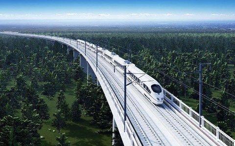 TOG: Målet er at lyntoget mellom Oslo og Göteborg skal begynne å gå i 2028. (Illustrasjon: Skanska)