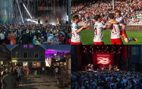 Restriksjonene forsvinner både på konserter, idretten og i utelivet. Nå kan du snart ta vorspielet på et fullsatt Fredrikstad stadion, feste på konsert med Staysman og avslutte kvelden på dansegulvet på byen.