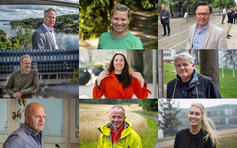 Dette er de ni politikerne med høyest godtgjørelse i Fredrikstad kommune: Jon-Ivar Nygård (Ap), Elin Tvete (Sp), Atle Ottesen (Ap), Truls Velgaard (H), Siri Martinsen (Ap), Bjørnar Laabak (Frp), Victor Kristiansen (Ap), Erik Skauen (MDG) og Malin Krå Simonsen (Ap)