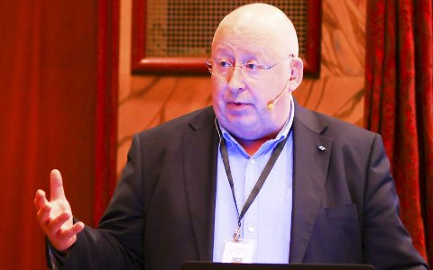 I Narvik: Bo Krogvig, LKABs kommunikasjonsdirektør, deltok under East West Arena tirsdag.