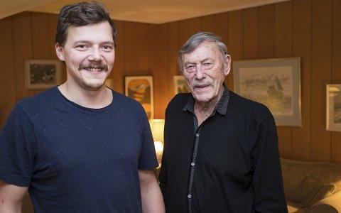 Generasjoner i VU: Preben Bjerke (27) har overtatt tradi- sjonene fra dem i generasjonene bak seg. Slik som bestefar Per Bjerke (86). Foto: Andreas Haakonsen